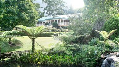 Cascading formal garden on Mount Tamborine