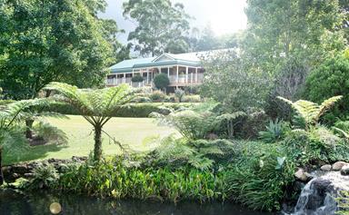 Cascading formal garden on Mount Tamborine