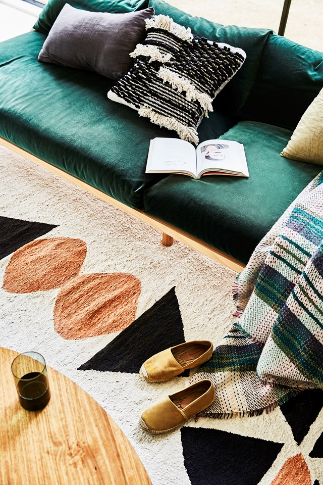 A rug can make or break a space, so it pays to try before you buy. Photo: Kristina Soljo