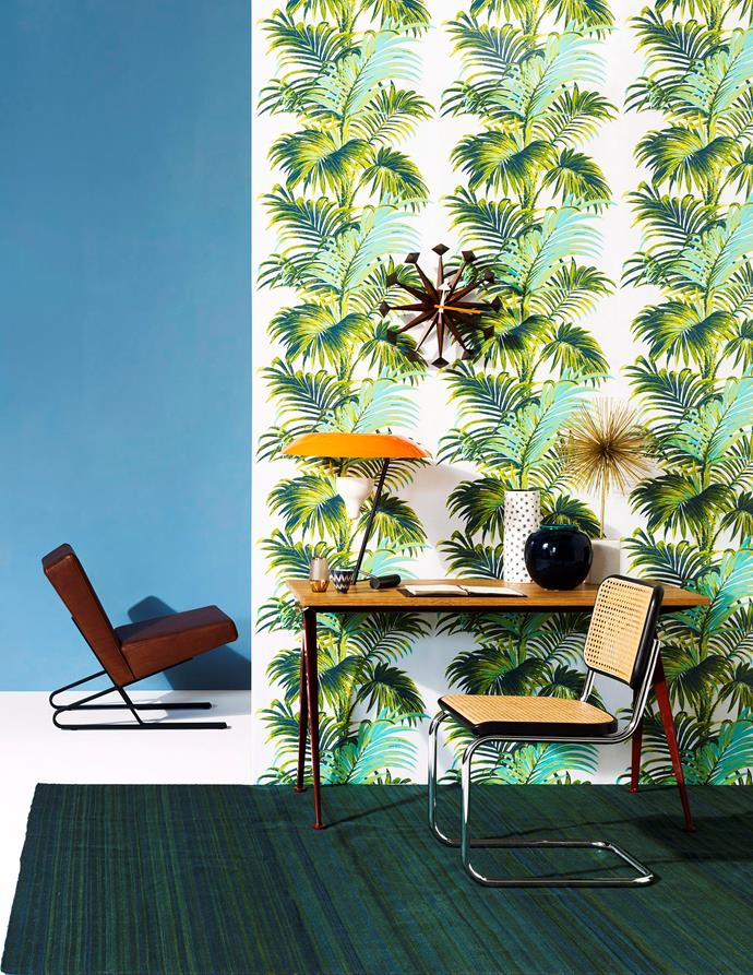 """Broadhurst's designs are as fashionable today as they were when created in the 1970s. The wallpaper is at home against [mid-century modern retro](https://www.homestolove.com.au/mid-century-modernist-homes-australia-6800