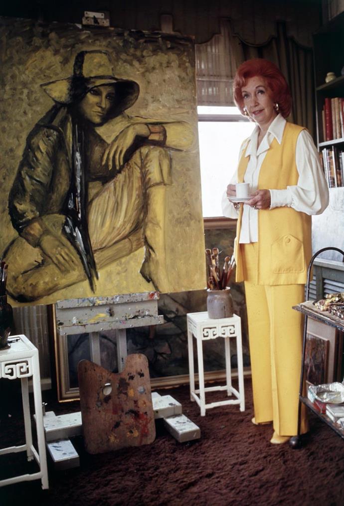 Florence Broadhurst in her studio in 1977. *Photo: ACP Photographic - Staff / bauersyndication.com.au*