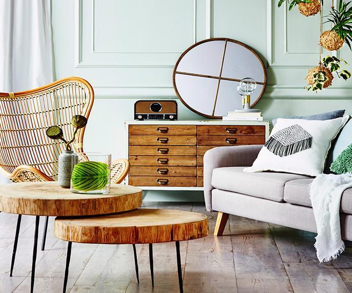 green lounge room