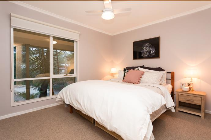 Many cushions were used throughout the home. One floral cushion used in the master bedroom retails for $255.