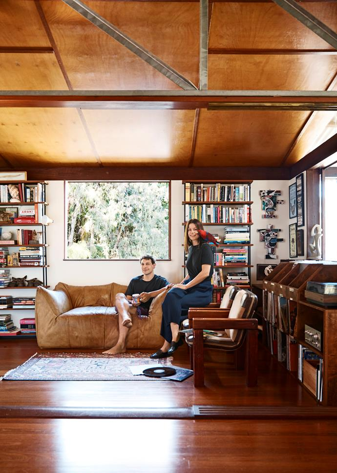 """Creative couple Anton Forte and Allie Webb who purchased [""""Treetop house"""" in Avalon](https://www.homestolove.com.au/treetop-house-in-avalon-given-artistic-flair-6696