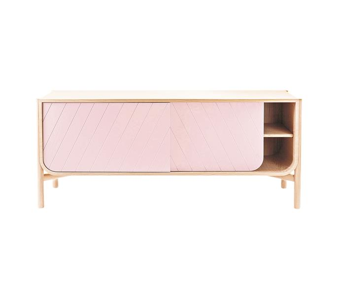 "This sleek sideboard has us tickled pink. Harto 'Marius' sideboard, $2695, from [Clickon Furniture](https://www.clickonfurniture.com.au/|target=""_blank""