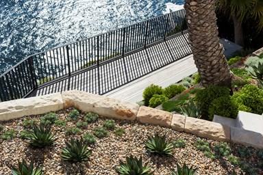 A clifftop coastal garden