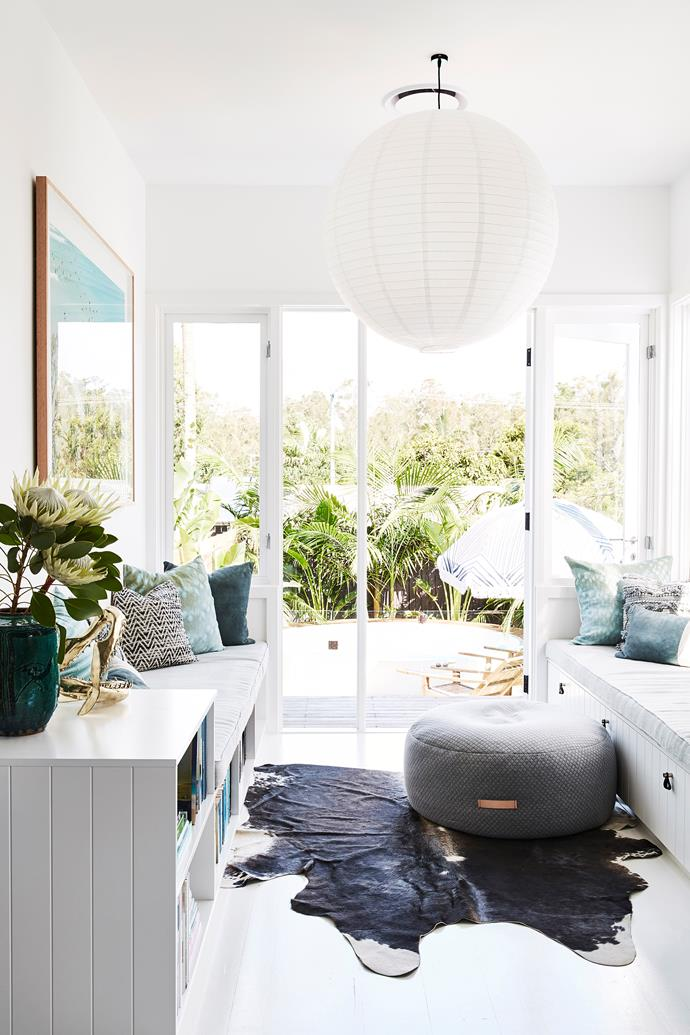 A soothing coastal-inspired colour palette adds to the relaxed vibes.