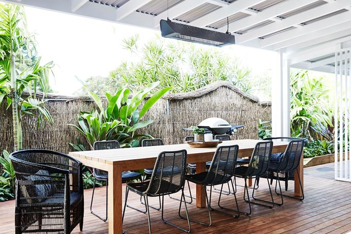 """We used the multifunctional Fresco outdoor heater and light over our outdoor dining area as it makes the space perfect for entertaining, and its multiple settings are perfect for holiday makers to customise it to their needs,"" says Melissa."