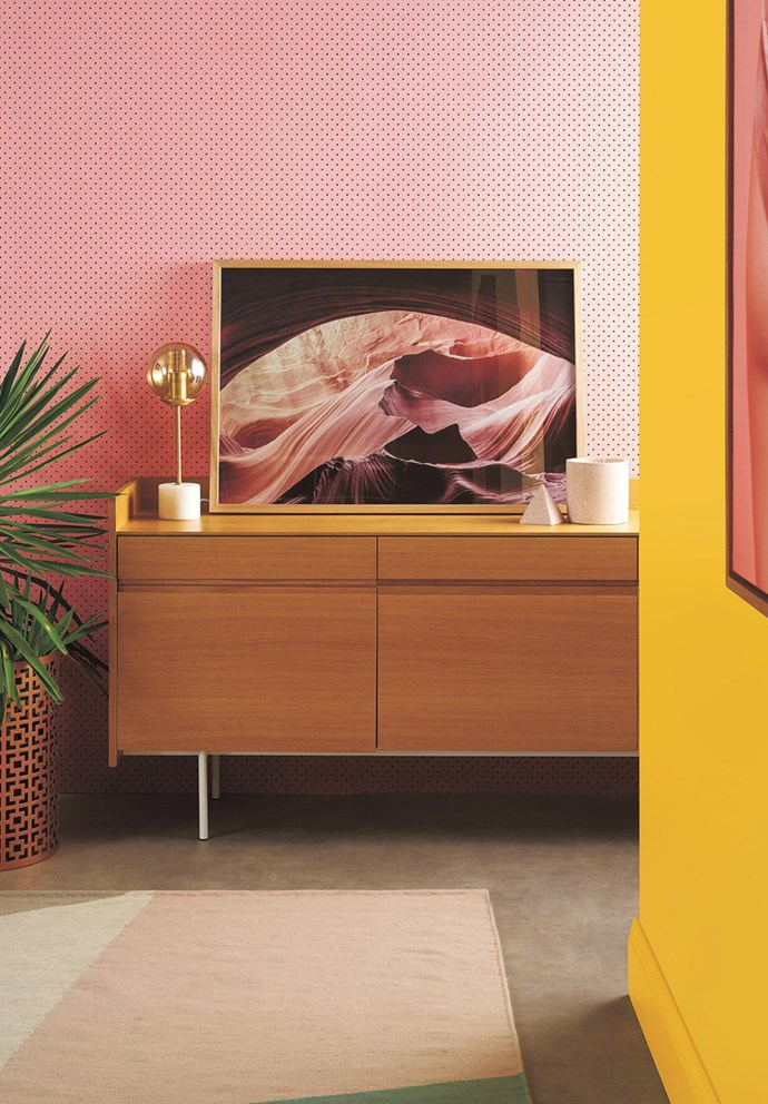 "While there's no denying that bright colours evoke a sense of happiness, too many bright colours in the one space run the risk of becoming overwhelming. Start by using colours sparingly and opt for vibrant hues in low-sheen finishes. Here, [Taubmans low-sheen Endure paint in Enterprising](https://www.taubmans.com.au/colourcentre/colour-details/64436/enterprising|target=""_blank""