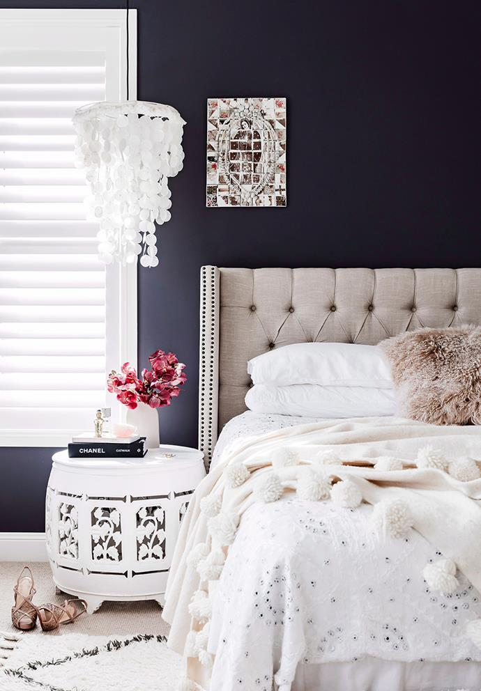 While painting your walls black may seem a little *too* bold, when done right, it can create an effortlessly timeless look. Stick to a mostly monochrome palette and create contrast through textures and finishes. *Photo: Maree Homer / Bauersyndication.com.au*
