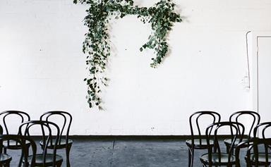 Stylish, relaxed warehouse wedding