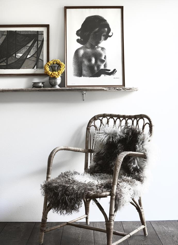 The home is decorated with a mix of new furniture and finds from flea markets. *Photography: Kristian Septimius Krogh | House of Pictures*