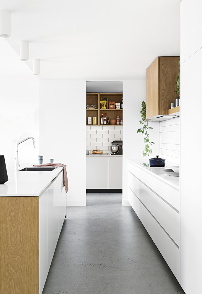 "**Scandi smart** Clean and pared-back but so sophisticated, a butler's pantry using the same materials as the Scandi-style main kitchen – including American oak veneer, subway tiles and two-pack polyurethane doors and drawers – delivers seamless flow. *Design: [Cantilever Interiors](https://www.cantileverinteriors.com/|target=""_blank""