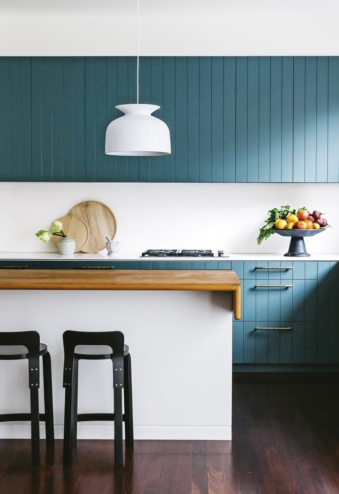 "**Straight up** Consider coloured cabinetry to add depth to your kitchen. This is a handpainted finish in Dulux Coriole, so it's easy to update it when you're craving a new look. *Design: [Arent & Pyke](http://arentpyke.com/|target=""_blank""