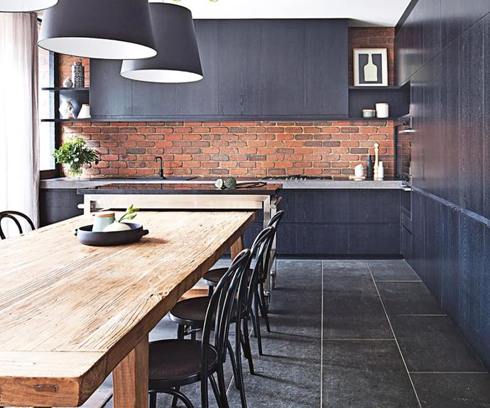 **Act your age** If you discover old brickwork in your renovation, it might be worth exposing it – and playing up that timeworn quality in the rest of your design. Brick, whether old or new, has an honesty that's hard to beat. *Design: Beatrix Rowe Interior Design (beatrix@beatrixrowe.com.au) | Photography: Shannon McGrath*.