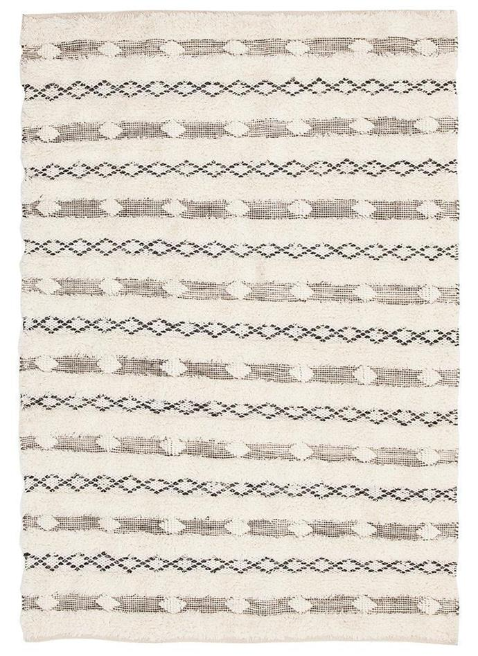 "Zwolle cream textured handwoven **rug**, from $287 on sale, at [Rug Emporium](https://fave.co/2NMS03n|target=""_blank""