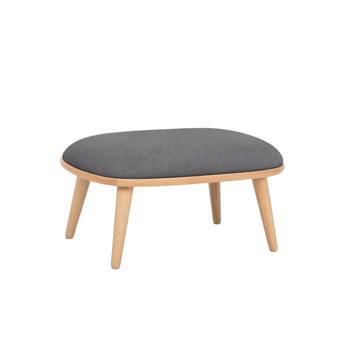 "Stockholm **footrest** in dark grey, $495, from [Nordik](https://fave.co/2Jhvuwk|target=""_blank""