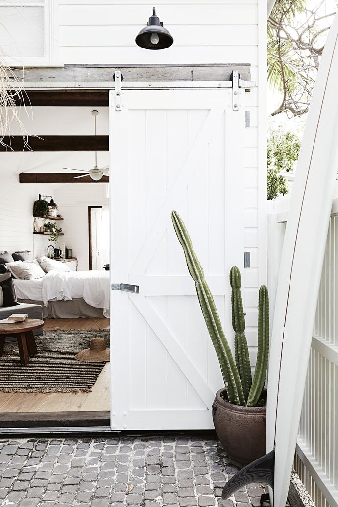 "The Barn at [The Bower Byron Bay](https://www.homestolove.com.au/inside-byron-bays-stunning-boutique-hotel-the-bower-17558|target=""_blank""). *Photography: Jessie Prince*"