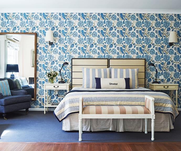 Each villa at Bells has been individually styled with designer wallpaper. *Photography: Supplied*