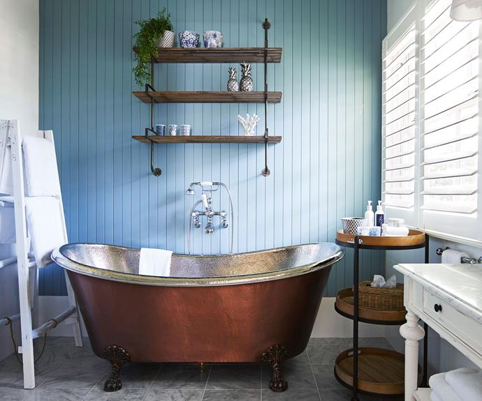 Handcrafted freestanding copper tubs add a little luxury to the villas, which also have underfloor heating in the marble bathrooms. *Photography: Supplied*