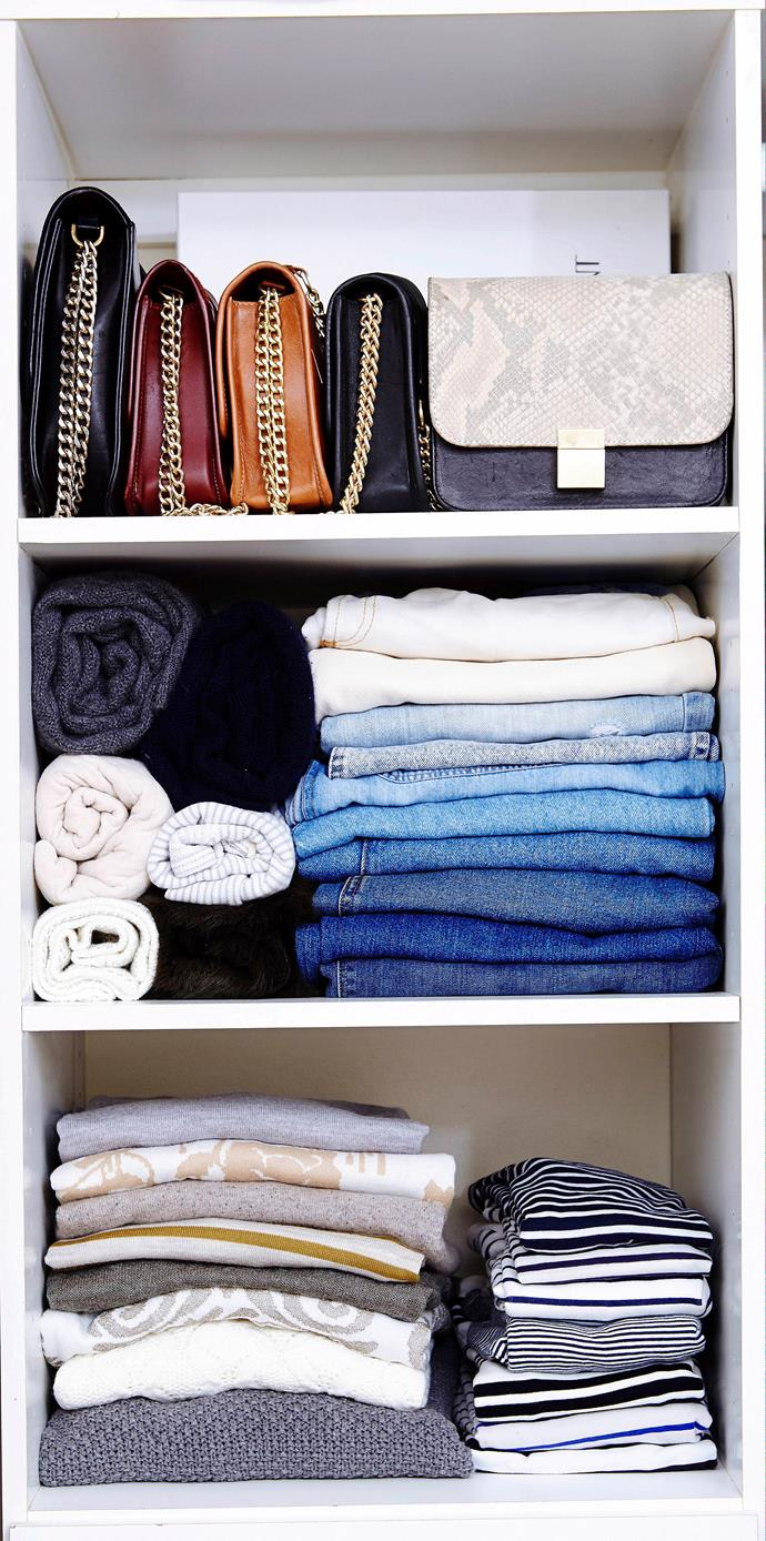 Everything is so much easier to find when you're wardrobe is organised.