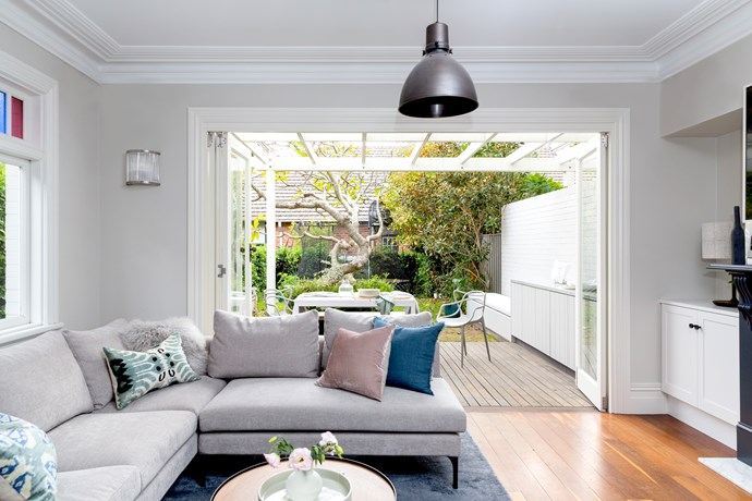 living room indoor outdoor grey