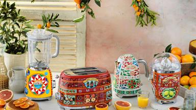 The Smeg x Dolce & Gabbana range will be available in September