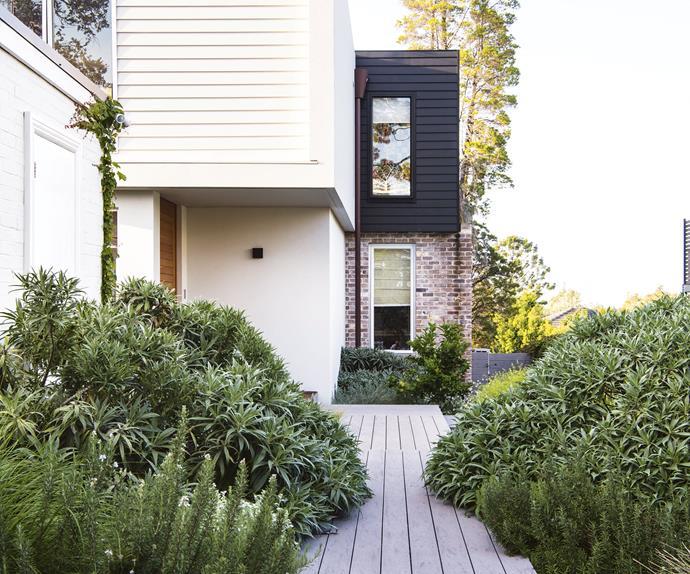modern australian home lush garden