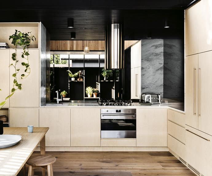 "**Heavy metal** Sleek metallic finishes contrast with timber and stone accents in this contemporary zone by [Figr Architecture & Design](https://www.figr.com.au/|target=""_blank""