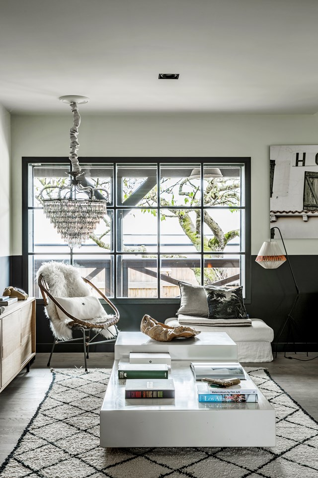"A chandelier ups the luxe factor in this [layered and eclectic home](https://www.homestolove.com.au/a-scandi-home-with-eclectic-style-7013|target=""_blank"")."