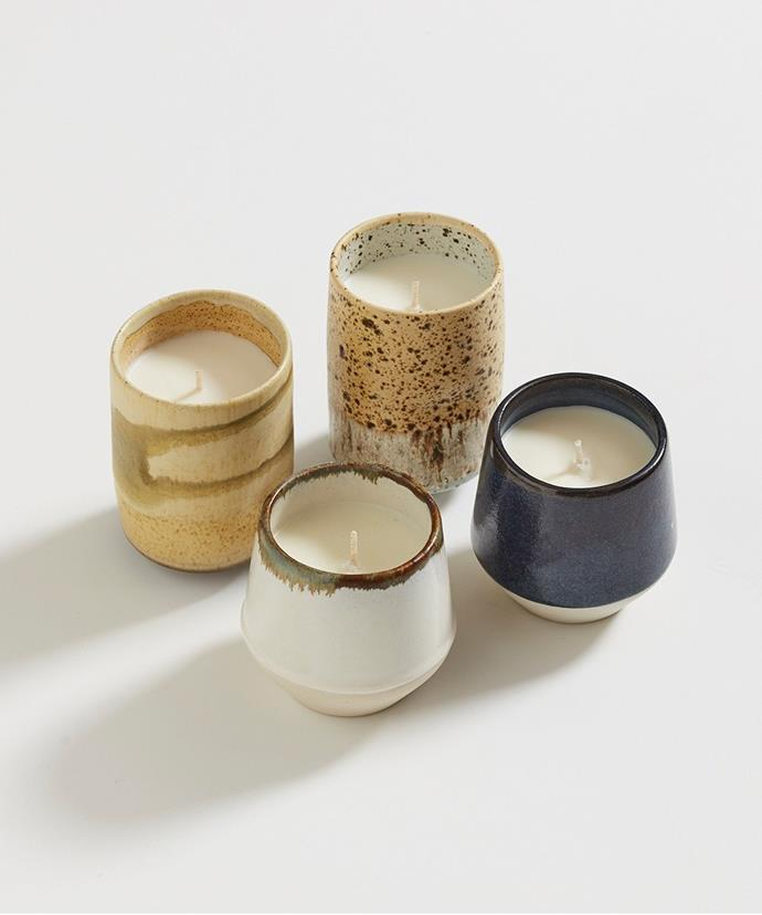 """Ceramic candle, $69, [The Provider Store](https://www.providerstore.com.au/collections/ceramics/products/ceramic-candle-milk target=""""_blank"""" rel=""""nofollow"""")."""