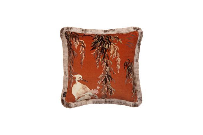 "House of Hackey ZEUS medium fringed velvet cushion in Tobacco, $250, [Radford Furnishings](https://www.radfordfurnishings.com.au/|target=""_blank""|rel=""nofollow"")."
