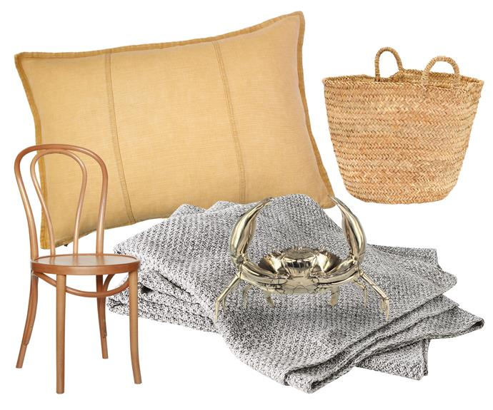 "**Get the look** Organic textures and seaside pieces inspire a laid-back vibe in this home. Touchable linen ups the comfort factor. Linen cushion, $90, [Curious Grace](https://curiousgrace.com.au/|target=""_blank""