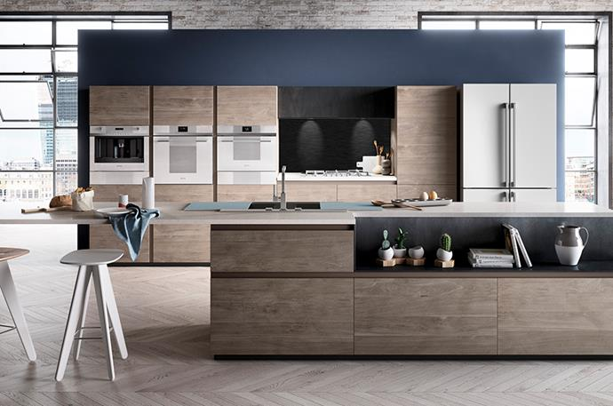 "Island bench storage allows for a completely clutter-free kitchen. [Smeg's Linear](http://www.smeg.com.au/linear/|target=""_blank""