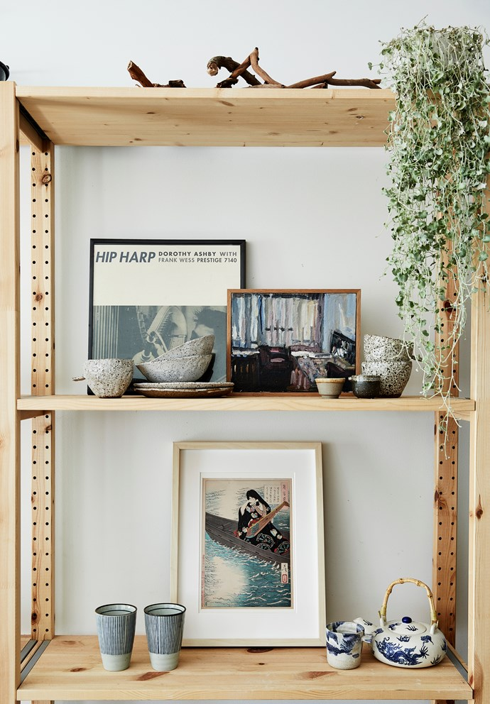 Kimberly's home is curated with works of her own as well as paintings and pieces from many other artists and friends whose work inspires and moves her.