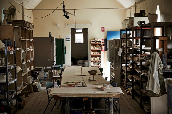 """Kimberly's shared studio space is in an [old converted church](https://www.homestolove.com.au/renovated-church-in-melbourne-6912