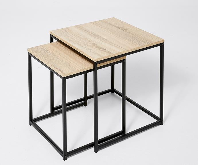 "Atticus nesting table, $49, [Target](https://www.target.com.au/ target=""_blank"" rel=""nofollow"")."