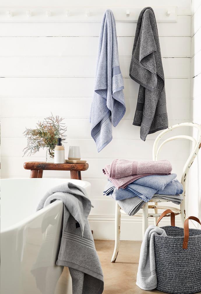 "Carlsbury bath towels, $15, [Target](https://www.target.com.au/ target=""_blank"" rel=""nofollow"")."
