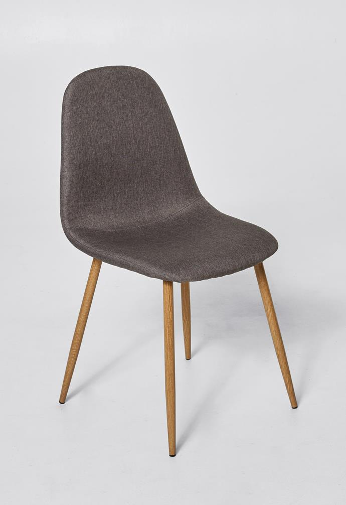 """Fabric covered occasional chair, $59, [Target](https://www.target.com.au/ target=""""_blank"""" rel=""""nofollow"""")."""