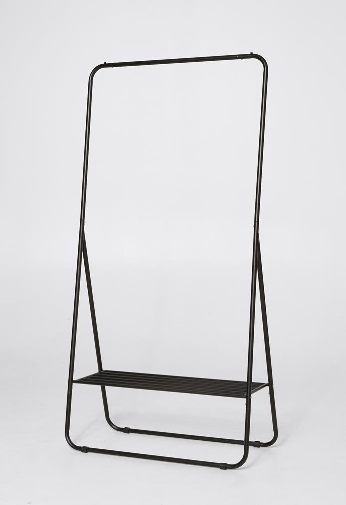 "Metal garment rack, $29, [Target](https://www.target.com.au/ target=""_blank"" rel=""nofollow"")."