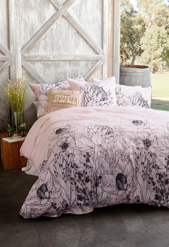 "Stella cotton seersucker quilt cover set, QB $49, [Target](https://www.target.com.au/ target=""_blank"" rel=""nofollow"")."