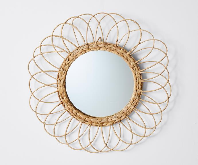 "Sunflower decorative mirror, $29, [Target](https://www.target.com.au/ target=""_blank"" rel=""nofollow"")."