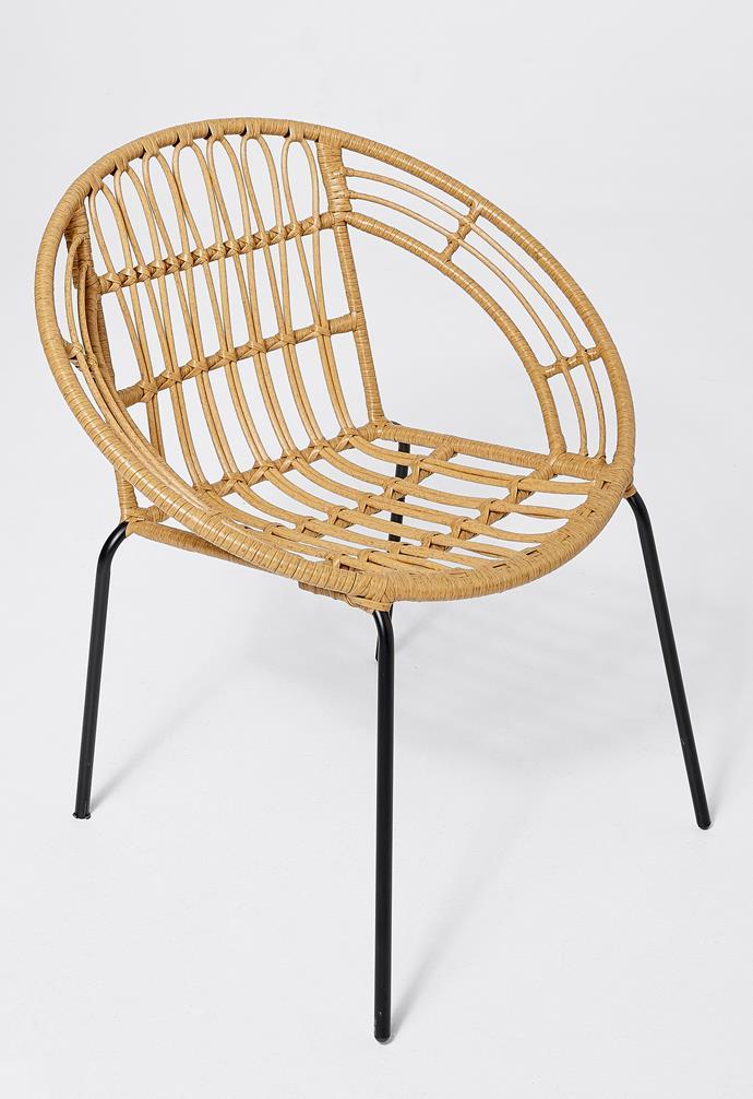 "Willa woven chair, $49, [Target](https://www.target.com.au/ target=""_blank"" rel=""nofollow"")."