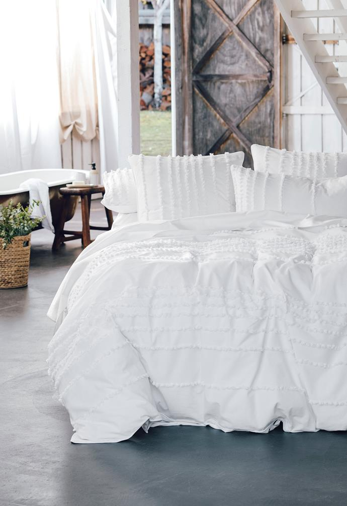 "Xanthe quilt cover set, QB $69 and Xanthe european pillowcases, $20, [Target](https://www.target.com.au/ target=""_blank"" rel=""nofollow"")."