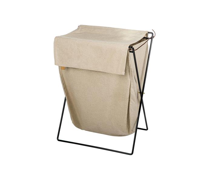 "Ferm Living 'Herman' laundry stand, $219, [Designstuff](https://www.designstuff.com.au/|target=""_blank""|rel=""nofollow"")."