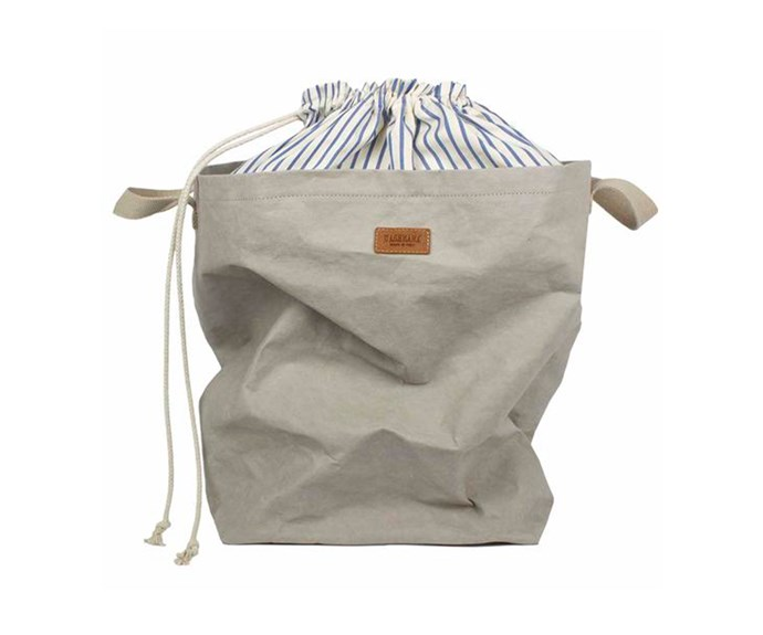 "Drawstring laundry bag, $129, [Uashmama](https://www.uashmama.com.au/|target=""_blank""|rel=""nofollow"")."