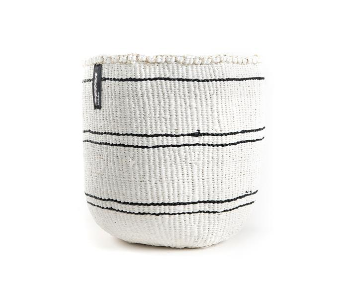 "Mifuko 'Kiondo' basket, $119, [Luumo Design](https://luumodesign.com/|target=""_blank""|rel=""nofollow"")."