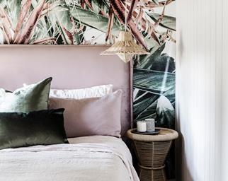 Bedroom by Three Birds Renovations featuring removable wallpaper