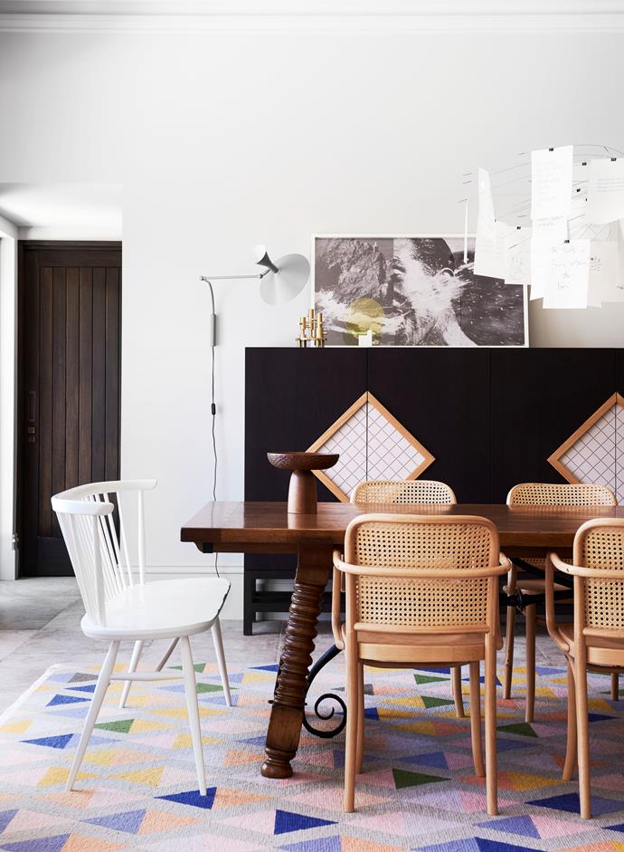Melbourne home by Chelsea Hing. Photograph by Eve Wilson. From *Belle* August/September 2018. 'Eiffel' rug from Behruz Studio.