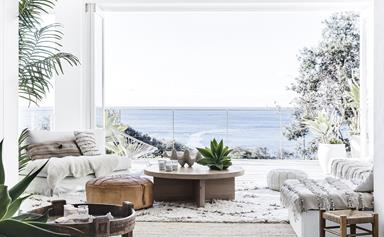Beach boho: this coastal home nails white-on-white design